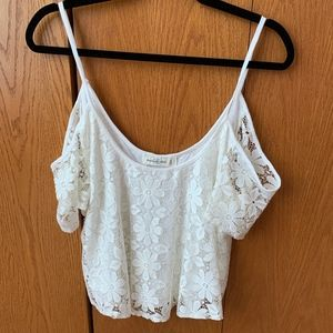 Abercrombie & Fitch Cold Shoulder Top